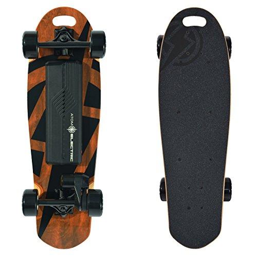 Atom Electric B.10 Skateboard - 1000W Belt Drive - 90Wh Li-Ion Battery, Brown, 29.5