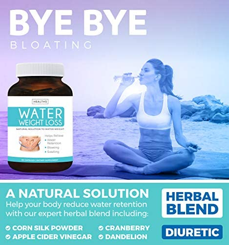 Water Pills - Natural Diuretic: Helps Relieve Bloating, Swelling & Water Retention for Water Weight Loss - Dandelion & Potassium Herbal Relief Supplement - 60 Capsules 5