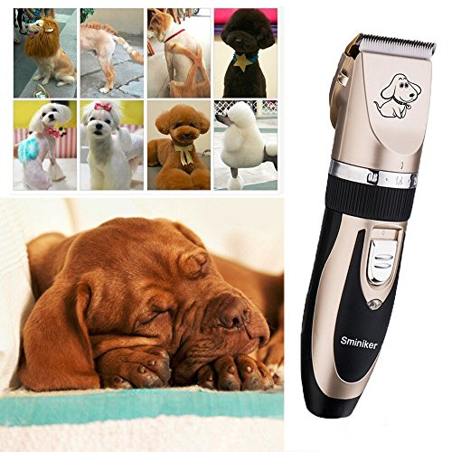 Sminiker-Professional-Rechargeable-Cordless-Dogs-Cats-Horse-Grooming-Clippers-Professional-Pet-Hair-Clippers-with-Comb-Guides-for-Dogs-Cats-Horses-and-Other-House-Animals-Pet-Grooming-Kit