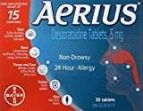 Aerius Allergy Medicine, 5mg, 30 Count