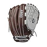 Wilson 2018 Aura Outfield Gloves - Right Hand Throw Ivory/Dark Brown, 12.5'