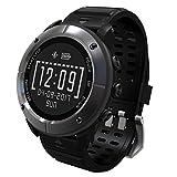 aiwako Waterproof GPS Outdoor Smart Watch UW80 (2018 BT4.2 Compass Atimeter SMS Heartrate Monitor Sleep Monitor for iPhone Android - Iron Grey