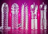5 Pack Reusable Enlarger Extender Crystal Elastic Sleeve Surprise Me Strong Silicone Sleeve