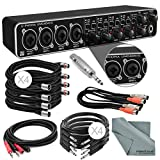 Photo Savings Behringer U-PHORIA UMC404HD USB 2.0 Audio/MIDI Interface and Accessory Bundle w/ 8X Xpix Cables + 2RCA Male Dual Cable + Dual MIDI Cable + Adapter + Fibertique