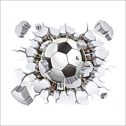 Guluded Football D Stereo Art Wall Sticker Wall Decal Home Decor Wall Poster Paper Murals Decal