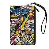 "Buckle-Down Junior's Zip Wallet Superman Large, Multicolor, 8"" x 5"""