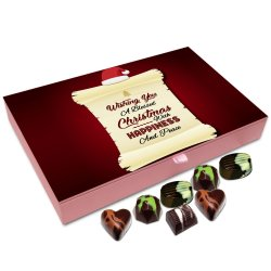 Chocholik Christmas Gift Box – Wishing You Christmas with Happiness and Peace Chocolate Box – 12pc