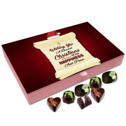 Chocholik Christmas Gift Box – Wishing You Christmas with Happiness and Peace Chocolate Box – 12pc