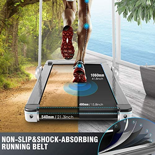 FUNMILY 2 in 1 Under Desk Folding Treadmill, 2.25HP Walking Running Machine with Bluetooth Speaker, Remote Control, Built-in 5 Modes & 12 Programs, Installation-Free, 2020 Model 3