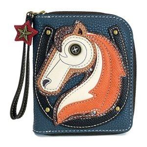 """Chala Zip Around Wallet""""Horse"""" Navy"""