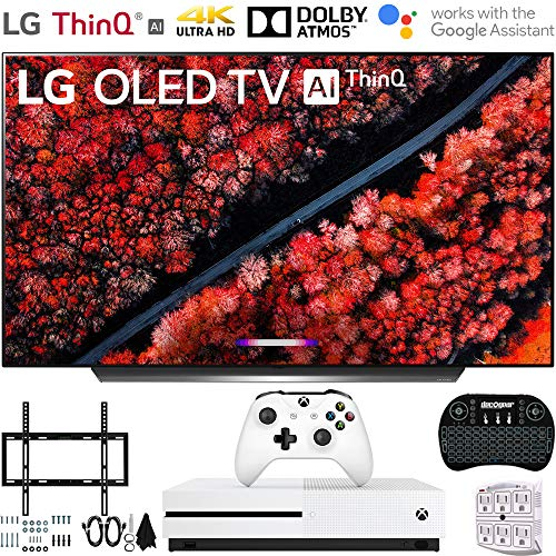 LG OLED55C9PUA 55″ C9 4K HDR Smart OLED TV w/AI ThinQ (2019) w/Xbox Bundle Includes, Microsoft Xbox One S 1TB, Flat Wall Mount Kit Ultimate Bundle for 45-90 inch TVs and More