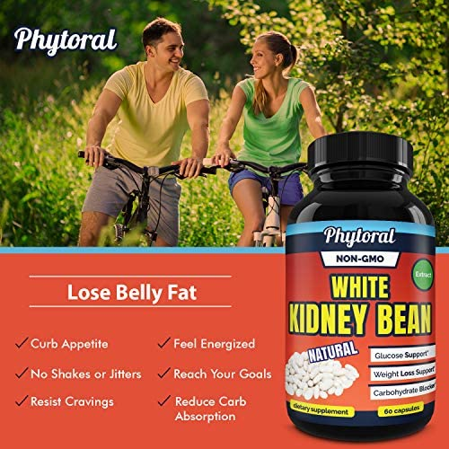 White Kidney Bean Supplement Pills Pure Extract Starch Carb Blocker Weight Loss Formula - Lose Belly Fat Suppress Appetite Boost Metabolism Natural Weight Loss for Men and Women by Phytoral 9
