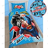 Batman v Superman Single/US Twin Duvet Cover and Pillowcase Set