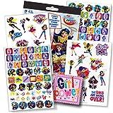 DC Comics Super Hero Girls Fun Set Superhero Girls Stickers and Superhero Girls Tattoos plus Specialty Sticker