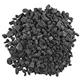 American Fireglass LAVA-M-10 American Fire Glass Medium Sized Black Lava Rock - Porous, All-Natural, 1/2 Inch to 1 Inch Thick x 10 Pounds,