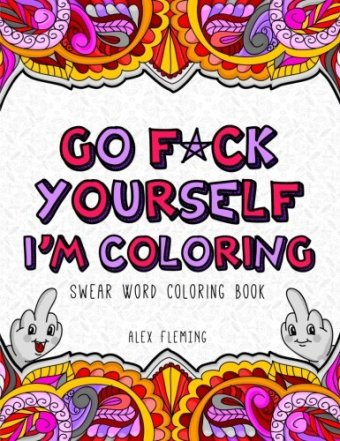 swear word coloring book,