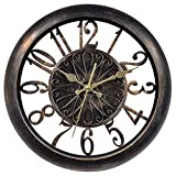 Chaney Instruments 75113 Open-Frame Antiqued Wall Clock, 14'