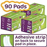 Dimples Booster Pads, Baby Diaper Doubler with Adhesive - Boosts Diaper Absorbency - No More leaks 90 Count (with Adhesive for Secure Fit)