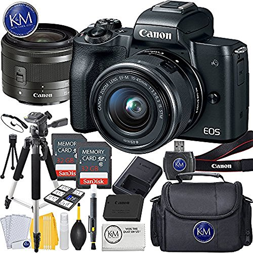 Canon EOS M50 Mirrorless Digital Camera K&M Kits