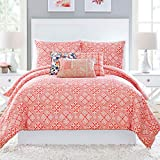 Vera Bradley Cuban Tiles Comforter, Twin Extra Long, Coral