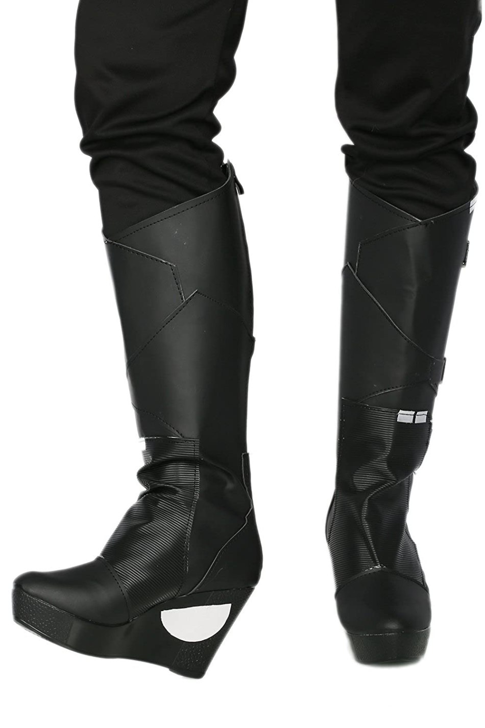 Zoe Gamora Movie Cosplay Costume Black Wedge Womens Mid-calf Boots Shoes