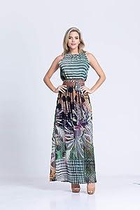 Vestido Clara Arruda Cinto Tilápia Estampado 50322