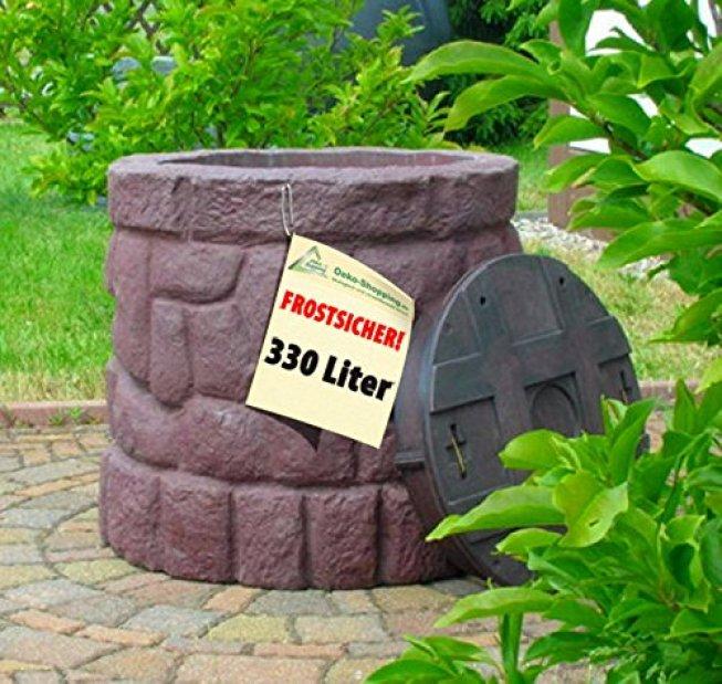 Regentonne Märchenbrunnen stein-braun 400l von Amur