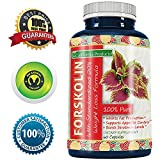 100% Pure Forskolin Extract 60 Capsules (Best Coleus Forskohlii on the Market) – Highest Grade Weight Loss Supplement for Women & Men – Standardized At 20%