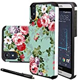 HTC Desire 530 Case, HTC Desire 630 Case, Linkertech Heavy Duty Defender Dual Layer Protector Hybrid Phone Case Cover for HTC Desire 530 / 630 (Peony)