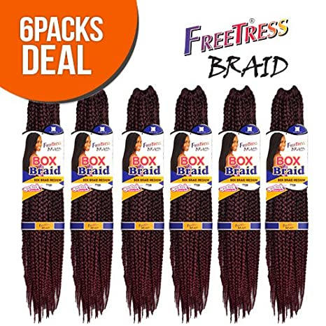 FreeTress Synthetic Hair Crochet Braid Medium Box Braids