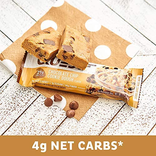 Quest Nutrition Chocolate Chip Cookie Dough Protein Bar, High Protein, Low Carb, Gluten Free, Soy Free, Keto Friendly, 12 Count 9
