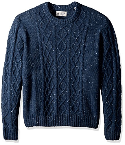 610m3c1bmOL Men's sweater with crew neck collar Classic fit - relaxed and fuller through the body and arms