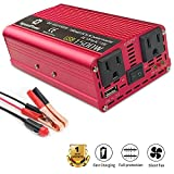 LVYUAN 700W/1500W(Peak) Power Inverter DC to AC 12V to 110V Car Inverter DC 12V Inverter with 3.1A USB Car Adapter