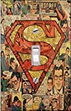 SUPERMAN Comic - Light switch Cover- SUPERMAN- Switch Plate Cover