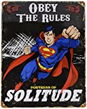 "Party Animal Superman Embossed Metal Sign 14.5"" x 11.5"" Black"