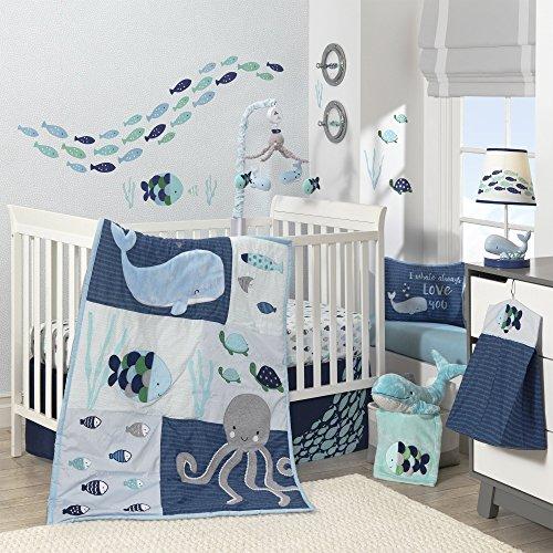 Lambs Amp Ivy Oceania 6 Piece Baby Crib Bedding Set Blue