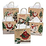 One Dozen Paper Christmas Craft Bag Assortment/CHRISTMAS/HOLIDAY wrap by Fun Express