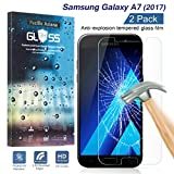 [2-Pack] Samsung Galaxy A7 2017 Tempered Glass Screen Protector, Pacific Asiana HD Crystal Clear Ultra Thin [9H Hardness] [Scratch Proof] Glass Protector Skin Cover with Lifetime Replacement Warranty