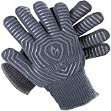 Grill Armor Extreme Heat Resistant Oven Gloves - EN407 Certified 932F  - Cooking Gloves for BBQ, Grilling , Baking , Grey