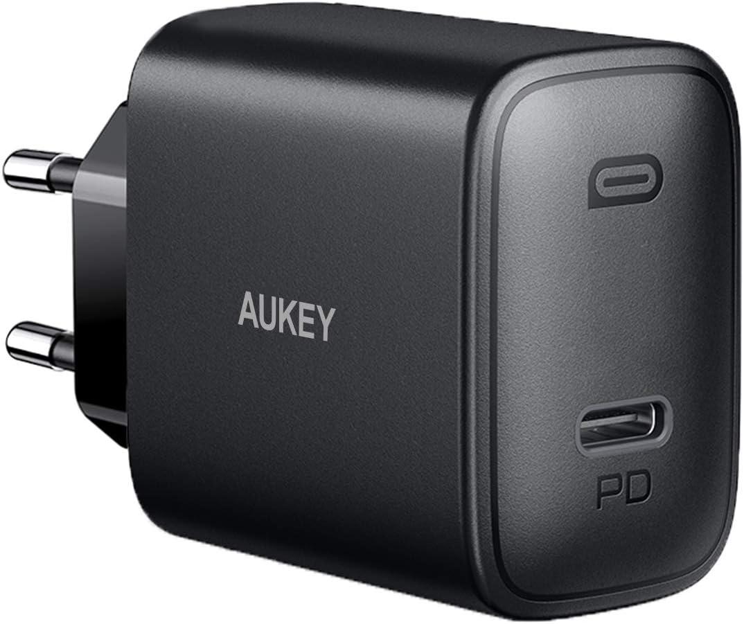 AUKEY USB C Chargeur Secteur USB 56,5W avec USB Type C Power Delivery 3.0 46W & 5V 2,1A Chargeur Rapide pour MacBook/Pro, Samsung Galaxy S8 / Note8, Google Pixel, iPhone 11 Pro/Max/11 etc.