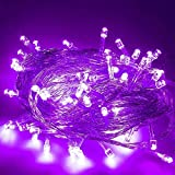 FULLBELL LED String Lights Fairy Twinkle Decorative Lights 200 LED 65.6 Feet with Multi Flashing Modes Controller for Kid's Bedroom, Wedding, Chirstmas Tree, Festival Party, Garden, Patio (Purple)