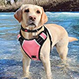 Babyltrl Pink XL Dog Harness for Large Dogs No-Pull Adjustable Pet Reflective Oxford Soft Vest for Big Dogs Easy Control Harness (Dog Collar Included)