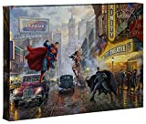 Thomas Kinkade Studios Batman, Superman and Wonder Woman 10 x 14 Gallery Wrapped Canvas