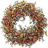 The Wreath Depot Appalachia Berry Silk Fall Door Wreath, 22 inch, Beautiful White Gift Box Included