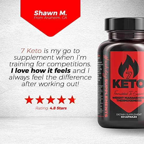 7 Keto Diet Pills - Weight Management Metabolism Booster - Natural Fat Loss | Maximize Results of a Proper Diet and Exercise - 30 Day Supply (60 Capsules) - Hashtag Supplements 7