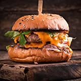100% Grass Fed Beef Burgers - 1/2 lb Each - Package Of 8 - Delicious & Healthy Burger Patty, Protein & Omega-3 Rich Gourmet Hamburger Meat, Juicy & Ready To Cook, Classic American BBQ Choice
