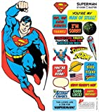 DC Comics Superman Quotable Notable - Die Cut Silhouette Greeting Card and Sticker Sheet