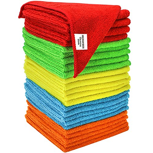 S & T 594501 25 Pack Microfiber Bulk Cleaning Cloth, 25 Pack