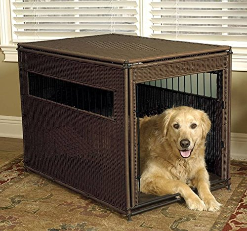 Orvis Wicker Dog Crate, Brown, Small