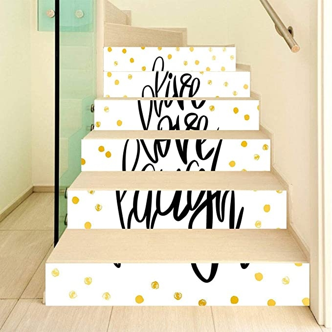 Amazon Com Live Laugh Love 3D Stair Stickers Decals 6Pcs Set | Live Home 3D Stairs | Chief Architect | Building | Floor Plan | Stair Treads | 3D Pro
